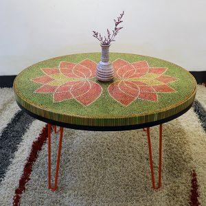 bàn trà nghệ thuật sen II 2