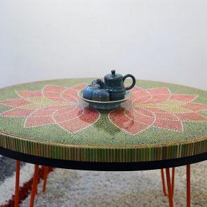 bàn trà nghệ thuật sen II 3